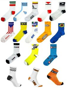 RETRO VINTAGE CYCLING TEAM MADE IN ITALY COTTON SUMMER BIKE CYCLE SOCKS