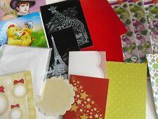 N.25  Bastelpaket  20 Teile  3D Bögen Karten Papier Scrapbooking  u.a. alles neu