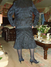 ROSIE'S COLLECTION CLASSY  NAVY 3 PIECE JACKET & SKIRT SUIT  - 14 - VERY DRESSY
