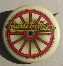 New ListingRare Original Early Nos Studebaker Celluloid Advertising Button or Pin G691