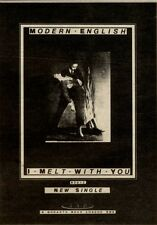 21/8/82PGN36 MODERN ENGLISH ; I MELT WITYH YOU SINGLE ADVERT 7X5""