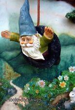 Miniature Gnome Tire Swing w Hook  Fairy Garden   MG 270