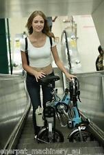 1Sec Fold,12'' folding electric bike,foldable bike, Move as trolley aftr folded*
