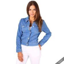 Abrigos y chaquetas de mujer vaquero color principal azul de poliéster