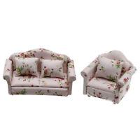 Ensemble de 2 meubles miniatures de maison de poupée 1:12 en bois