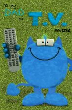 My Dad The T.V. Monster Happy Father's Day Card Cute Greeting Cards