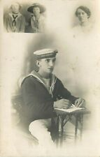 REAL PHOTO POSTCARD - BRITISH SAILOR HMS CLANTINE - OLD REAL PHOTO POSTCARD VIEW