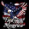 God Bless America USA Eagle Flag Red White & Blue Patriotic T-Shirt Tee