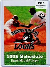 1995 MINNEAPOLIS LOONS PRAIRIE LEAGUE INDEPENDENT BASEBALL POCKET SCHEDULE