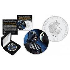 Niue 1 oz 999 Silber Star Wars Darth Vader Todesstern Death Stern Backdrop Farbe