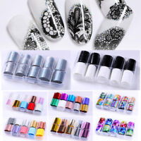 10 Rolls Holographic Nail Foils Starry Sky Glitter Foils Nail Transfer Stickers