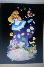 Disney Wonderground Gallery Alice in Wonderland Art Postcard, NEW