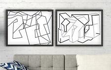 Cuadros abstractos decoracion contemporanea diseño minimalista