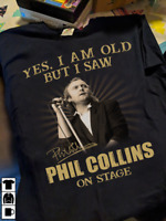Phil Collins On Stage Signature Genesis Band Fan Gift Unisex T Shirt S-5XL Black