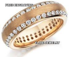 18K ROSE GOLD MENS DIAMOND WEDDING BANDS RING