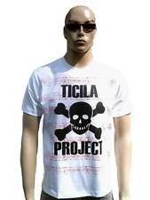 Ticila Project Skull punk rock ska emo sangre rayas t-shirt L