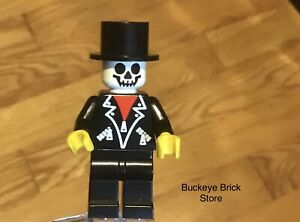 LEGO Halloween Scarey Minifig Black Top Hat  and Legs with Ghost Head Zombie