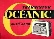 Metal Sign Oceanic Transistor Radio 1960s French Advert A4 12x8 Aluminium