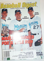 Baseball Digest Magazine Alex Fernandez & Al Leiter June 1997 020315R