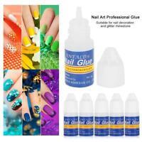 3X 3g Nail Art Glue Strong Adhesive Acrylic False Tips Rhinestones- UK seller