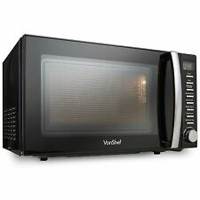 Vonshef 20l Digital Microwave Oven 800w Auto Cook Defrost Quick Start Black 1