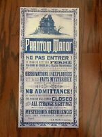 "Phantom Manor Metal Refurbishment Sign 10x20"" Disney Prop Haunted Mansion 50th"