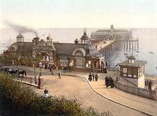 Vintage Edwardian Seaside Photochrome Photo Reprint Southend 2 A4
