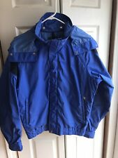 Vintage The North Face Extreme RARE Gore Tex hooded Jacket Blue Snow ski Sz M