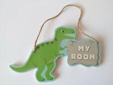 Roarsome Dinosaurs My Room Hanging Door Plaque Dinosaur Bedroom Door Sign