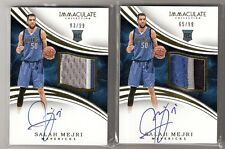 Salah Mejri 15/16 Immaculate Rookie RC Patch Auto #130 SN #65/99 and #93/99