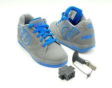 HEELYS 770508 Gray Blue Wheel Sneaker Shoes Youth Boys 6