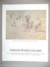 Arshile Gorky Art Gallery Exhibit PRINT AD - 1989
