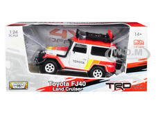 TOYOTA FJ40 LAND CRUISER TRD WHITE LTD 2400 PCS 1/24 DIECAST CAR MOTORMAX 79137