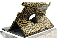 360 Degree Rotating PU Leather Case for iPad 2 / 3 / 4  (LEOPARD GOLD)