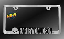 Harley-Davidson HD License Plate Frame Holder HD Willie G Skull  Chrome NEW