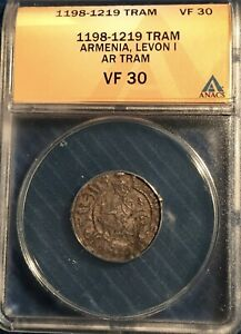 Armenia  - Levon I = AR Tram = ANACS  VF-30 = 1198-1219 = Levon / Rampant Lions!