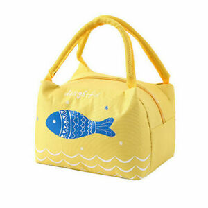 Canvas Tote Food Box Men Insulated Thermal Kids Lunch For Cooler Bags Women Bag
