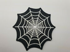 SPIDER WEB iron on or sew on Patch Biker vest