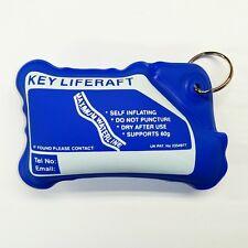 BLUE Self Inflating Keyring 'Key Liferaft' - Supports up to 60g !