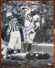 Chuck Bednarik SIGNED 16x20 Photo + Gifford INSC HOF Eagles PSA/DNA AUTOGRAPHED