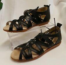 Niños Niñas Zapatos Sandalias Hecho Italy negro gr 32 9715