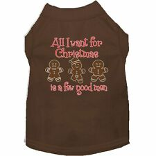 Mirage Pet Products All I want is a Few Good Men Screen Print Dog Shirt Brown XS
