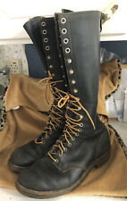Vintage Red Wing Boots Lineman Logger Redwing Work Shoes 9 1/2 E