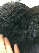 Raw Alpaca Fleece - Blanket only - Black/Bay Black