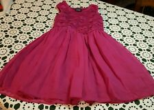 NEW ♡ FADED GLORY LITTLE GIRLS RASPBERRY PINK PARTY DRESS  ♡ Size XS 4-5