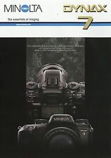 Prospekt brochure Minolta Dynax 7 5 01 2001 Spiegelreflexkamera Kamera Werbung