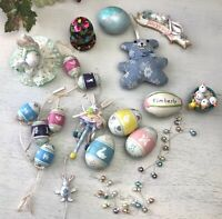 Easter Decorations Decor Rabbits Bunnies Chicks Eggs Mixed Lot Packet Shabby Q