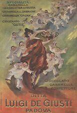 W7616 Caramelle Giusti - Illustrazione a colori - Pubblicità del 1920 - Old ad