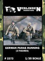 Verlinden 1:35 German Paras Running - 2 Resin Figures Kit #2373