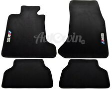BMW M5 Series E60 E61 E60LCI Black Carpets With ///M5 Emblem 2002-2009 LHD